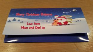 Personalised Christmas Gift Wallet for Money, Vouchers, Concert Tickets etc. Design 1